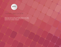 Abstract violet mosaic background. Vector illustration with text Royalty Free Stock Images