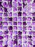 Abstract violet mosaic dimension Stock Images
