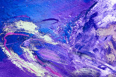 Abstract violet painting by oil on a canvas Royalty Free Stock Image