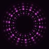 Abstract violet round frame. Abstract violet round sparkling frame on black background Stock Images