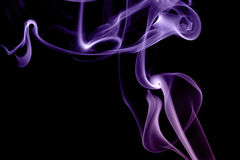 Abstract violet smoke isolated. On white Royalty Free Stock Images