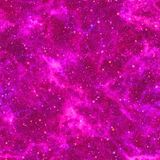 Abstract violet universe. Nebula night starry sky. Purple outer space. Glittering texture background. Seamless illustration. royalty free illustration