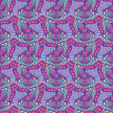 Abstract violet wavy pattern. Endless floral background. Seamless tiling pattern Royalty Free Stock Photo