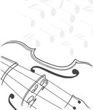 Abstract violin background Stock Image