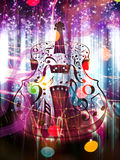 Abstract Violin on Bokeh Background Royalty Free Stock Images