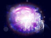Abstract Violin on Bokeh Background Royalty Free Stock Photos