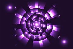 Abstract viooltje met ruimtewetenschap Royalty-vrije Stock Afbeelding