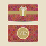 Abstract Vip and gift card set Stock Photos