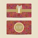 Abstract Vip and gift card set. Vector illustratuon Stock Photos