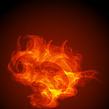 Abstract virtual fire background Royalty Free Stock Photos