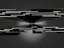 Abstract virtual space on the black background. Concept perspect Stock Images