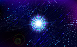 Abstract virtual space technology  background. Royalty Free Stock Photography