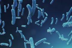 Abstract virus als achtergrond Het concept die wetenschap en geneeskunde, immuniteit in het lichaam verminderen Griepvirus royalty-vrije illustratie