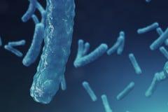 Abstract virus als achtergrond Het concept die wetenschap en geneeskunde, immuniteit in het lichaam verminderen Griepvirus vector illustratie