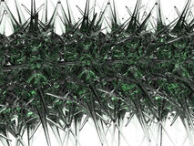Abstract virus background. 3D rendered illustration of a virus abstract background. The composition is placed on a white background with no shadows Royalty Free Stock Images