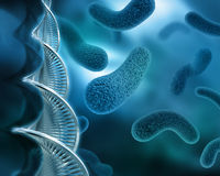 Abstract virus background with DNA strand Royalty Free Stock Image