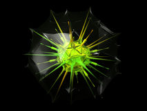 Abstract virus in protective capsule Royalty Free Stock Image