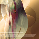 Abstract vision. Abstract lines and shapes overlaying each other royalty free illustration