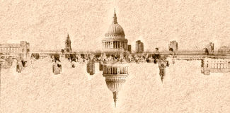 Abstract Vision Dome of St Pauls Cathedral London Royalty Free Stock Photo