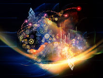 Abstract Visualization Backdrop Stock Image