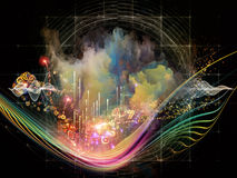 Abstract Visualization Background Royalty Free Stock Photography