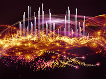 Abstract visualization wave Royalty Free Stock Photo