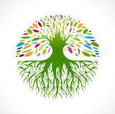 Abstract Vitality Tree Logo Stock Photography