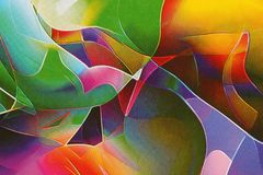 Abstract vivid background. An orgy of colours. Stock Photos