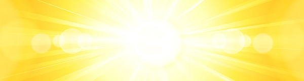 Abstract vivid bright yellow orange sun burst panorama backgroun Royalty Free Stock Photos