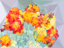 Abstract vivid color polygonal background from cosmos flower sha Stock Image
