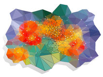 Abstract vivid color polygonal background Royalty Free Stock Photo