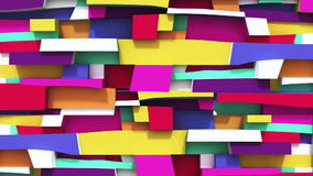 Abstract vivid colorful background with Irregularity rectangulars stock video