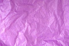 Purple Crumpled Tissue Paper Texture stock photography