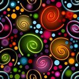 Abstract vivid seamless black pattern Royalty Free Stock Photography