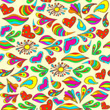 Abstract vivid seamless summer pattern painted by hand. Royalty Free Stock Images