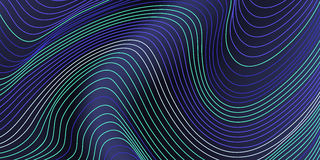 Abstract vivid waves background landscape composition. Royalty Free Stock Images