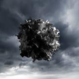 Abstract vliegend voorwerp met chaotische oppervlakte Royalty-vrije Stock Foto's