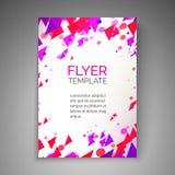 Abstract vliegerontwerp Deeltjesstroom Vector abstract malplaatje voor vlieger, affiche, dekking, brochure Stock Foto's