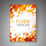 Abstract vliegerontwerp Deeltjesstroom Vector abstract malplaatje voor vlieger, affiche, dekking, brochure Royalty-vrije Stock Foto