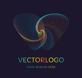 Abstract vlinderembleem Vector symbool Royalty-vrije Illustratie