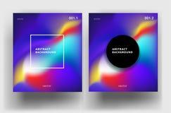 Abstract vloeibaar achtergrond kleurrijk gradiëntpatroon - minimaal v Royalty-vrije Stock Foto