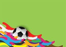 Abstract voetbal backgound malplaatje stock illustratie