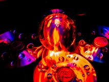 The Lensball Resembles a Volcano Erupting Lava royalty free stock photos