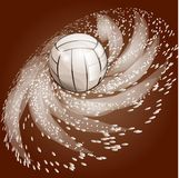 Abstract volleyball background Royalty Free Stock Image
