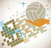 Abstract volleyball motive Royalty Free Stock Image