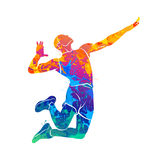 Abstract volleyball player Stock Photos