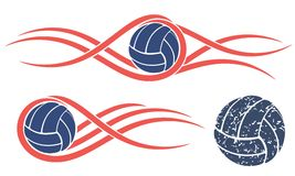 Abstract Volleyball Stock Photo