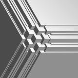 Abstract volume isometric  background. Royalty Free Stock Photo
