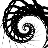 Abstract volute, spiral background. Rotating, concentric shapes. Royalty Free Stock Photography