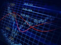 Abstract voorraaddiagram royalty-vrije stock foto